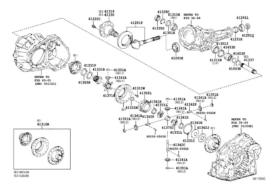Lexus RX 330 Ring, hole snap(for center differential