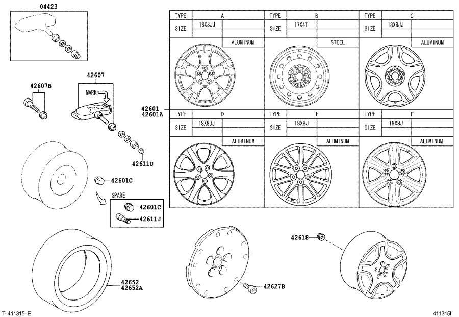 Lexus SC 430 Fitting kit, tire pressure monitor or