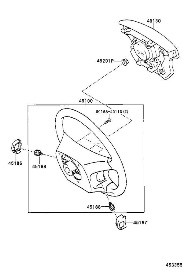 Lexus GX 470 Wheel assembly, steering. Black