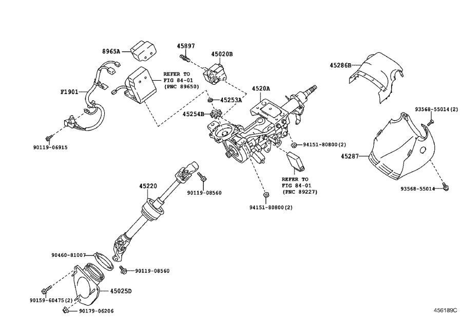 Lexus ES 350 Column sub-assembly, electric power steering
