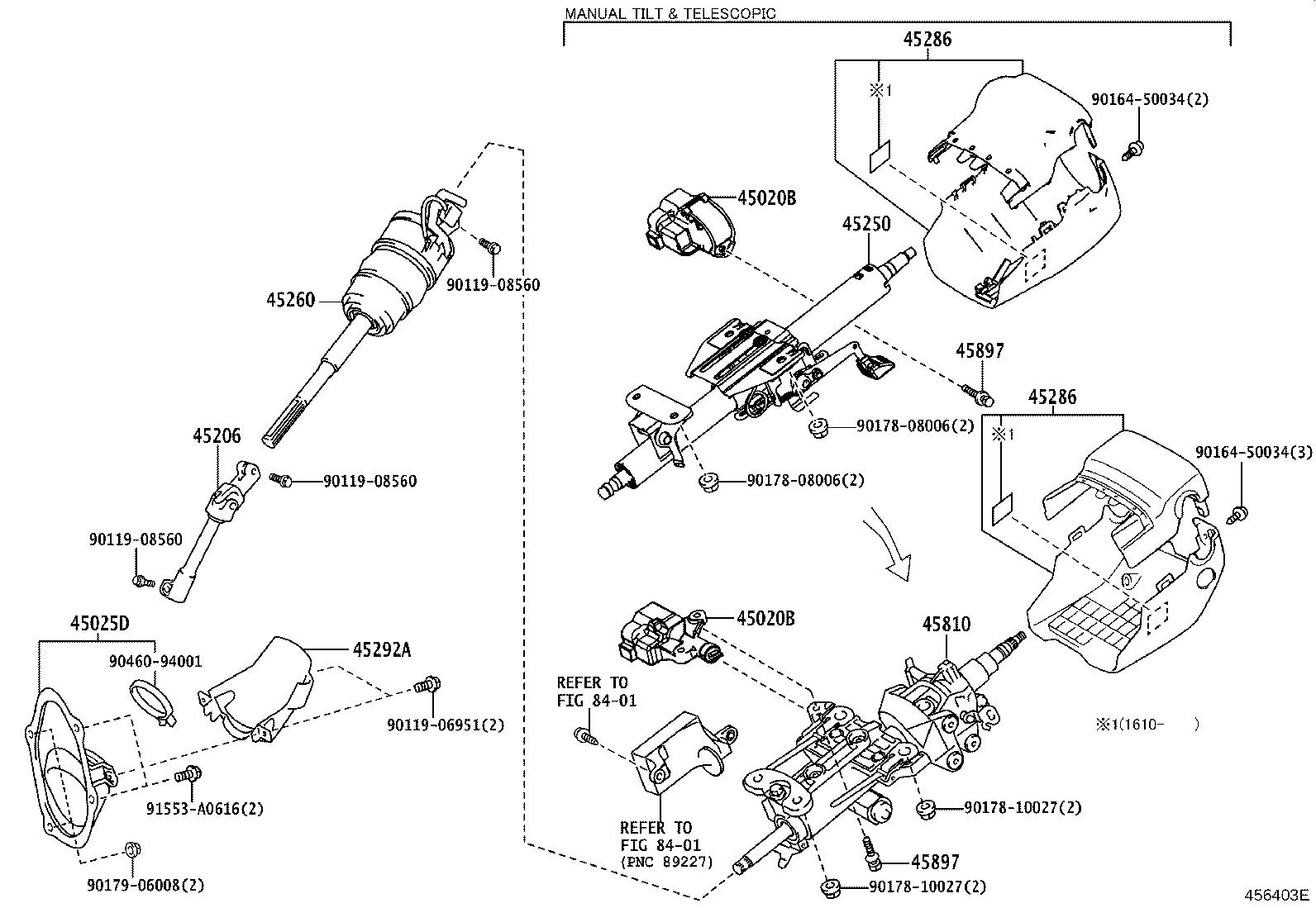 Lexus Is 350 Cover Sub Assembly Steering Column Hole No