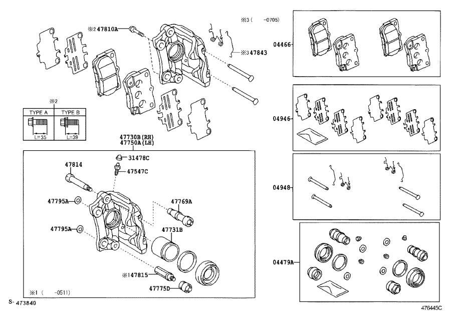 Lexus IS 250 Cylinder assembly, disc brake, rear left. Pnc