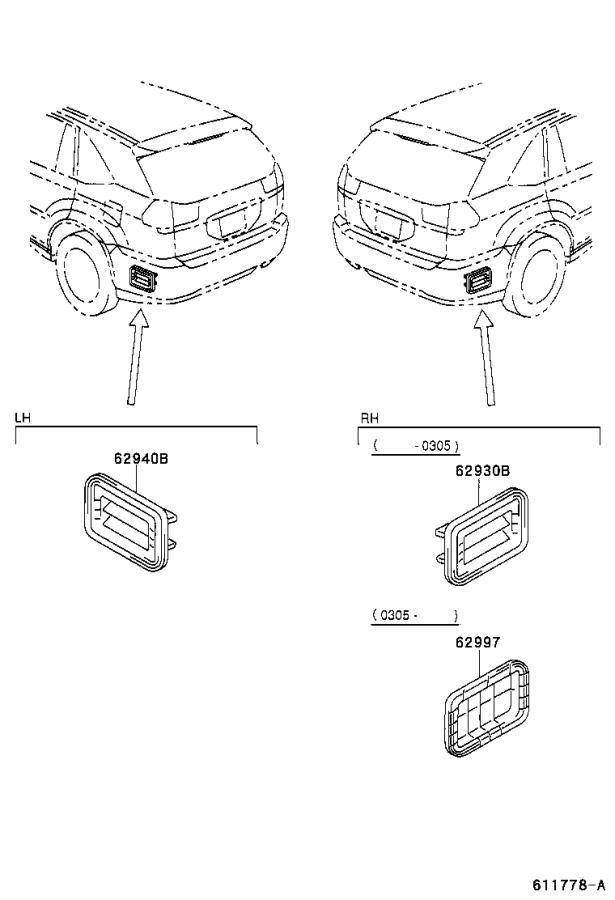 Lexus RX 330 Duct assembly. Quarter vent, left; quarter