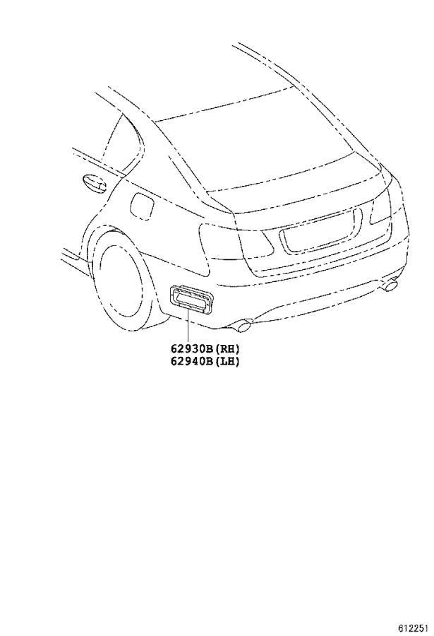 Lexus GS 350 Duct assembly, quarter v. Body, interior