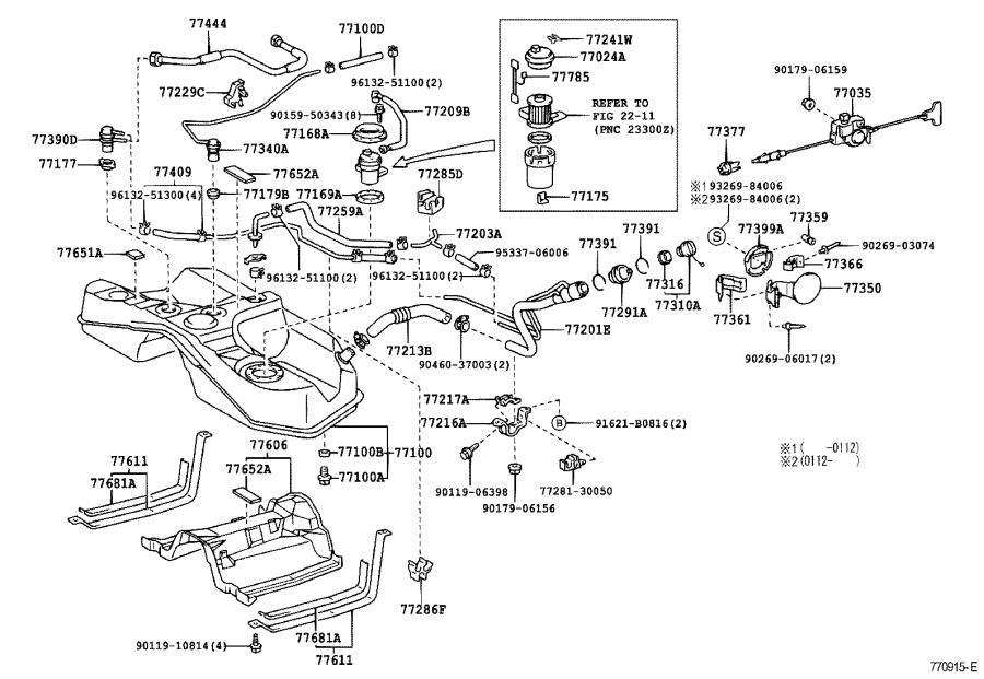Lexus SC 430 Support, fuel tank filler pipe, no. 2. Tube