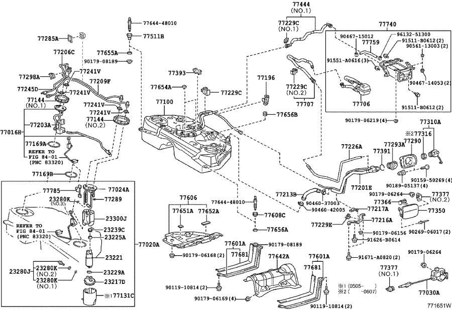 Lexus GS 300 Clamp. Fuel tube with grommet, no. 4; fuel