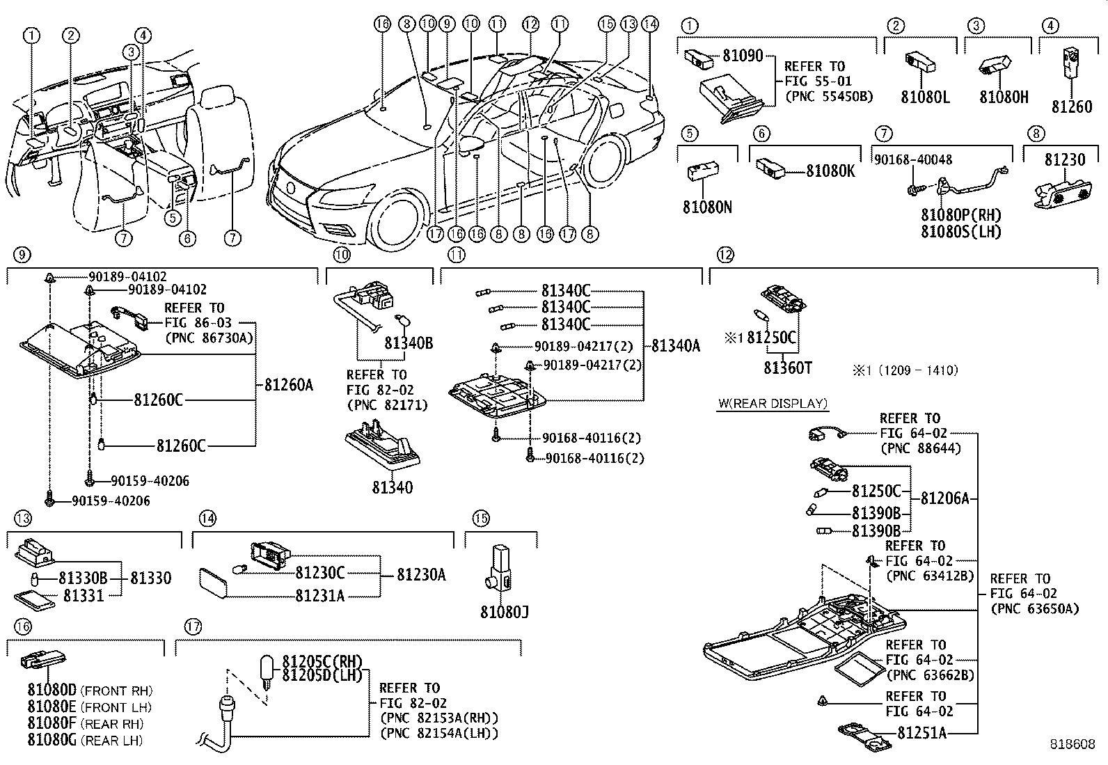 Lexus Ls 460l Lamp Assembly Lamp Sub Assembly