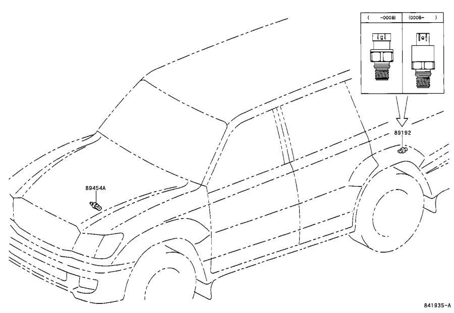 Lexus LX 470 Sensor, pressure accumulator. Electrical