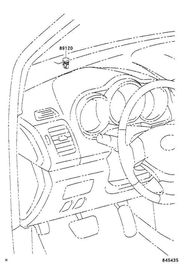 Lexus RX 400h Sensor, automatic light control. Cowl, seat