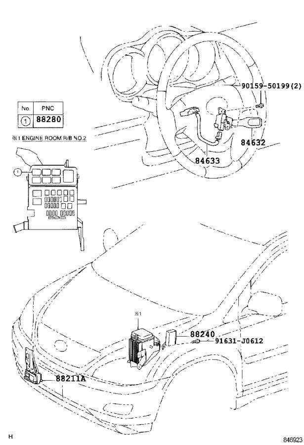 Lexus RX 400h Computer assembly, cruise control. Radar