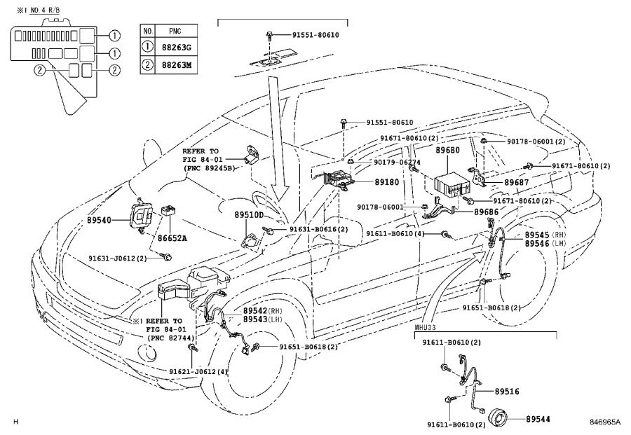 Lexus RX 400h Computer assembly, skid control. Vsc