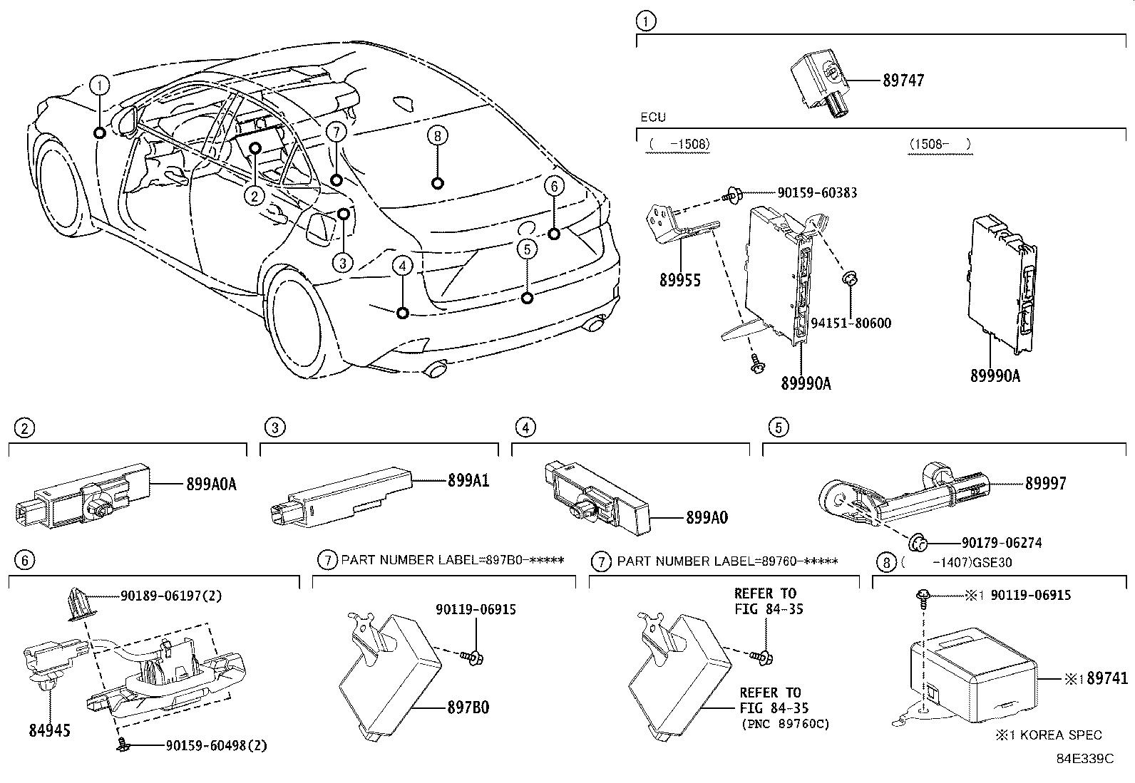 Lexus IS 250 Receiver assembly, electrical key & tpms
