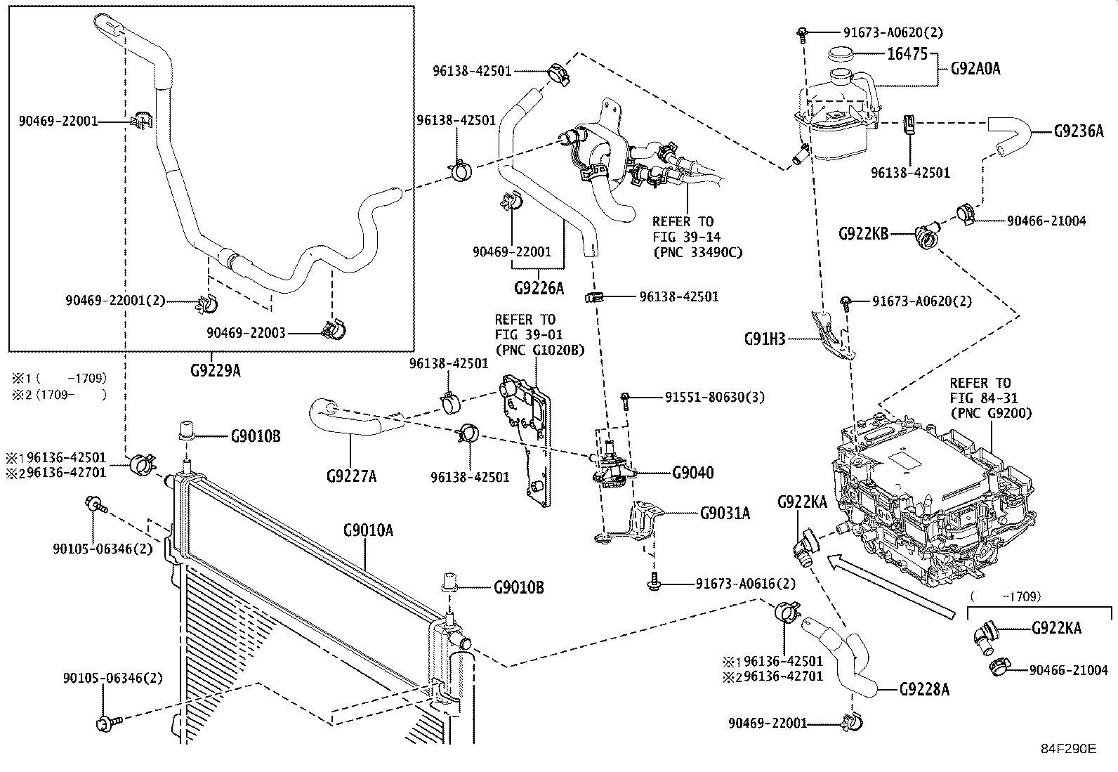 Lexus NX 300h Drive Motor Inverter Cooler Water Pump