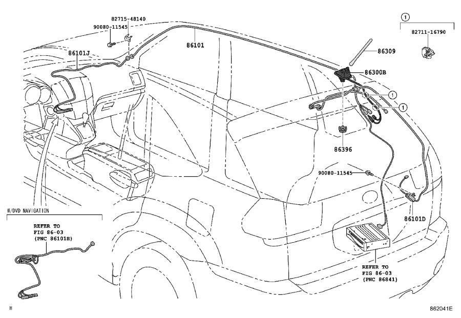 Lexus RX 350 Cord sub-assembly, antenna, no. 2. Electrical