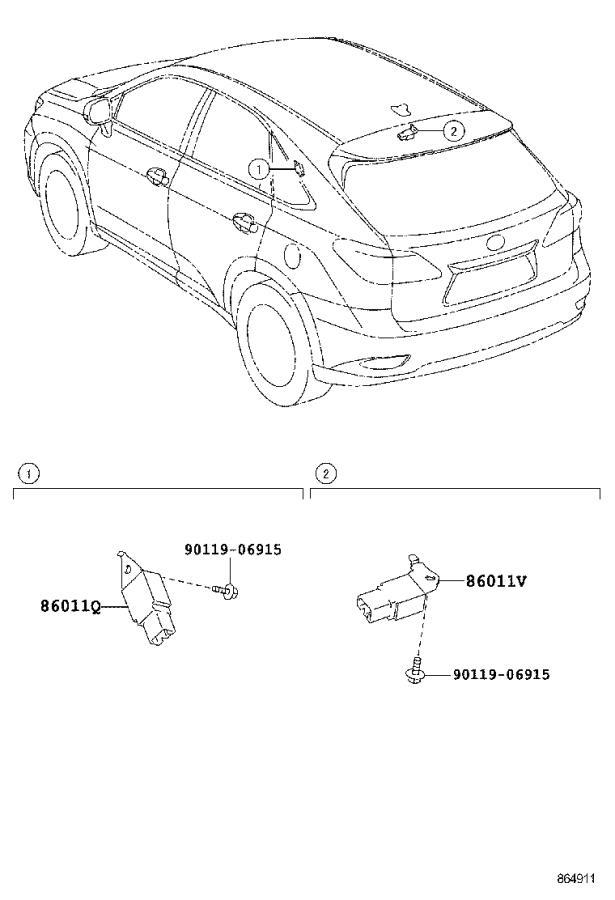 Lexus RX 450h Receiver assembly, multi-media module