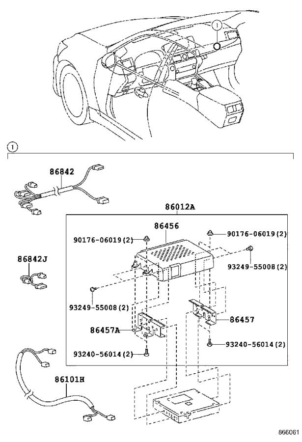 Lexus LS 460 Meter assembly, accessory. Navigation, spec