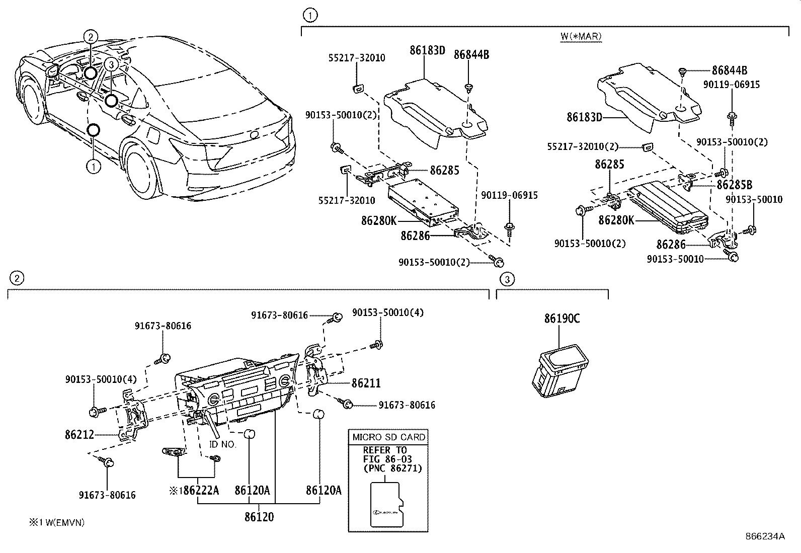 Lexus ES 350 Amplifier assembly, stereo component. Mar