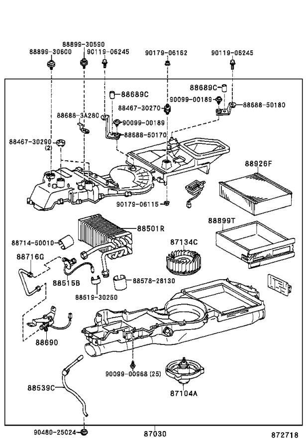 Lexus LS 400 Motor sub-assembly, blower. Cooler