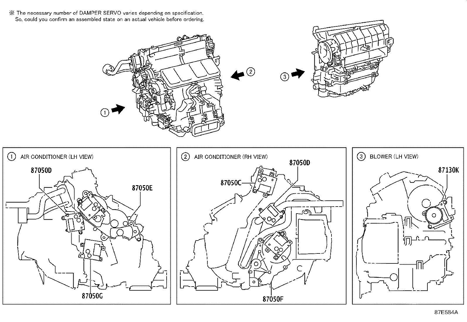 Lexus RC F Hvac air inlet door actuator (lower). Motor