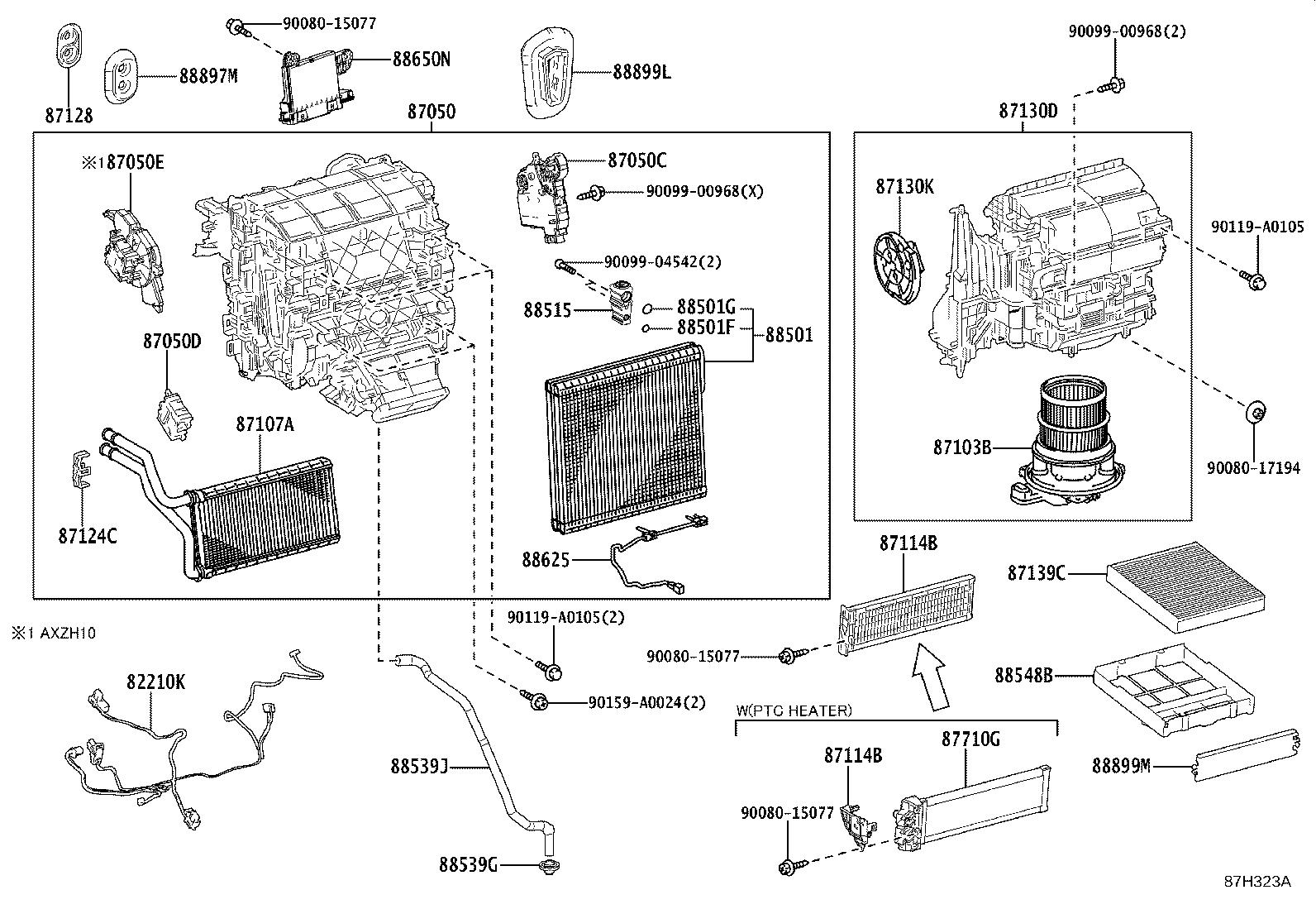 Lexus Es 350 Damper Servo Sub Assembly Air Conditioner