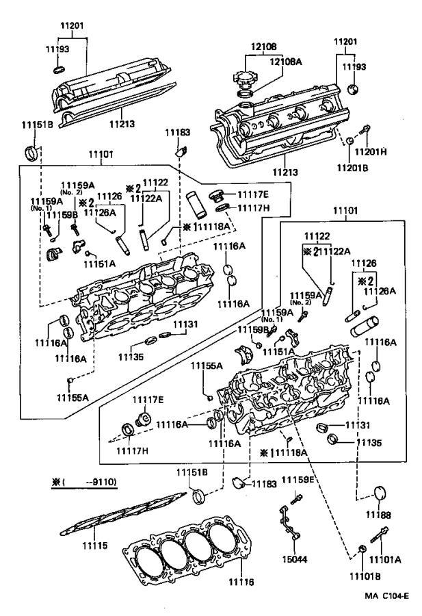 Lexus LS 400 Spark Plug Wire. ENGINE, IGNITION, Wires