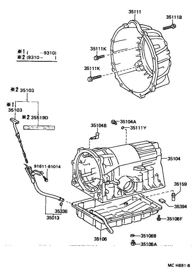 Lexus LS 400 Automatic Transmission Dipstick Tube O-Ring