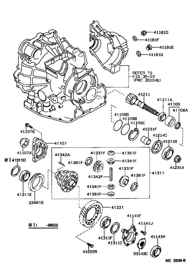 Lexus ES 300 Manual Transmission Output Shaft Seal (Right