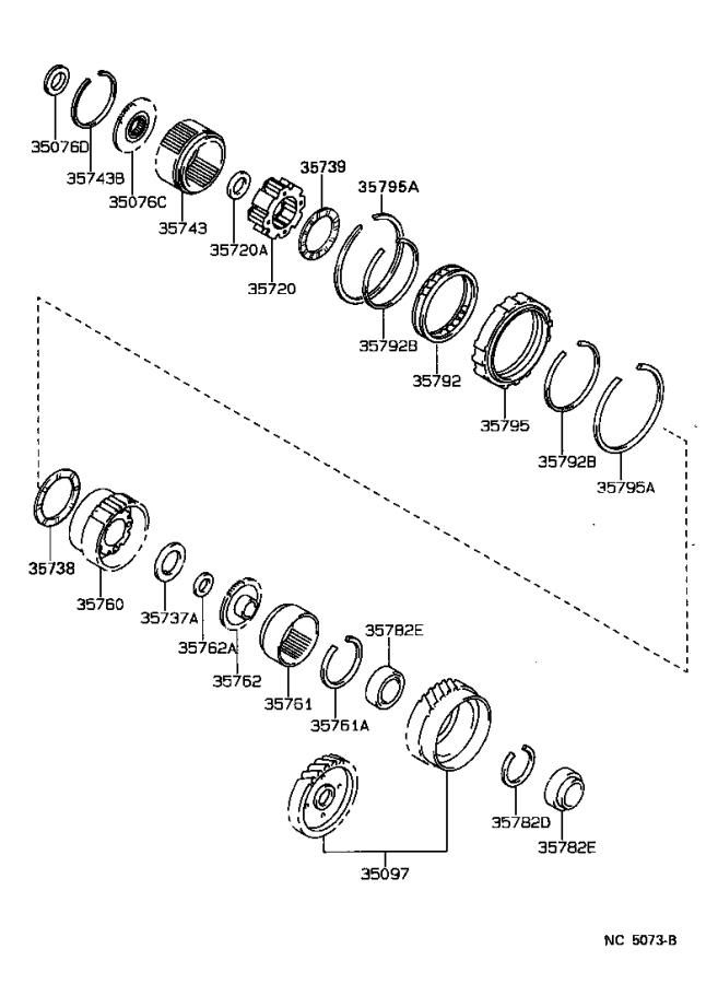Lexus ES 250 Ring, hole snap(for counter drive gear