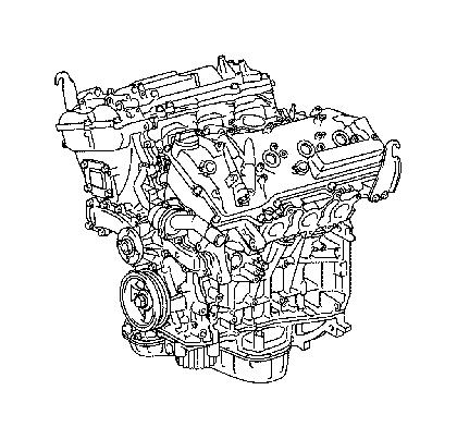 Lexus RX 330 Engine assembly, partial. Components