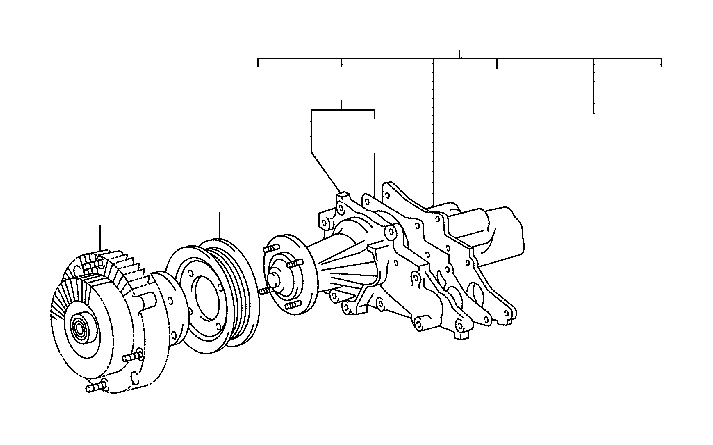 Lexus SC 300 Pump assembly, water. Engine, cooling