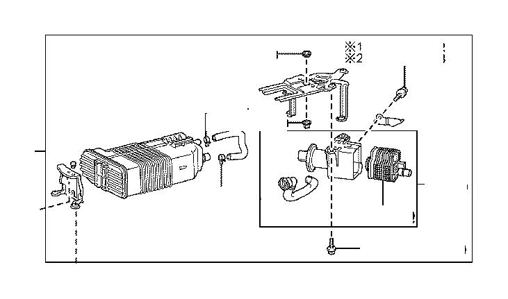 Lexus RX 350 Vapor Canister Filter. Filter, CHARCOAL