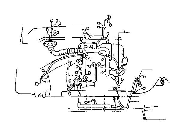 Lexus SC 300 Connector, wiring harness. Wire, engine