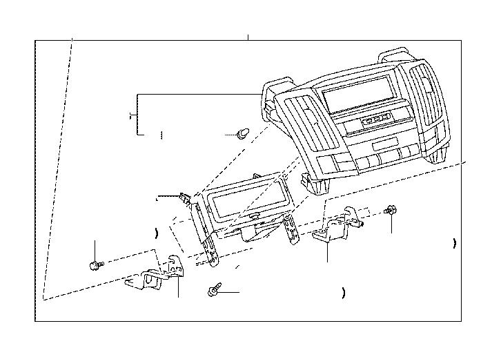 Lexus RX 350 Housing sub-assembly, heater control. Engine