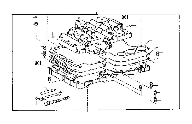 Lexus LS 400 Spring sub-assembly, manual detent. Atm, twc