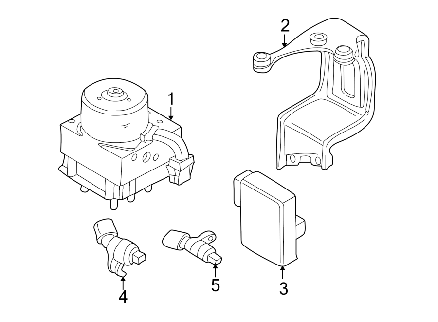 2000 Volkswagen Abs control module bracket. Abs hydraulic