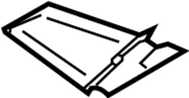 Nissan Xterra Service File Cover Spring. (Rear). BRACKET