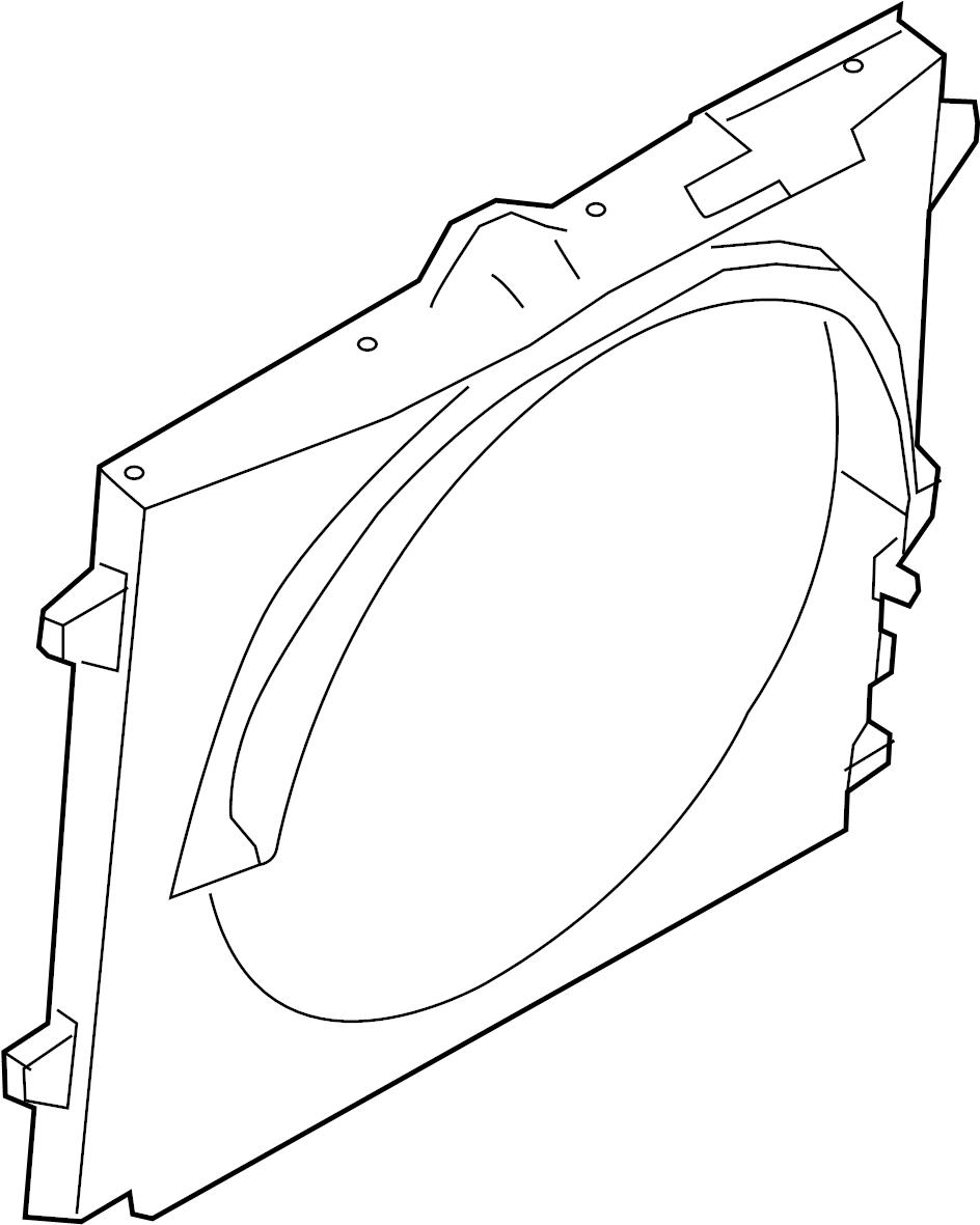 Nissan Titan Engine Cooling Fan Shroud (Upper). RADIATOR