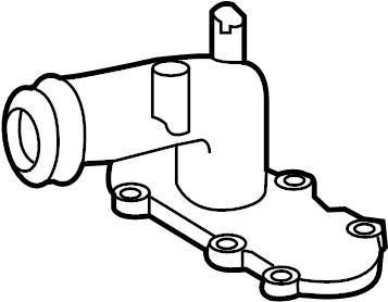 Nissan Titan Connector. Water Neck Adapter. PUMP