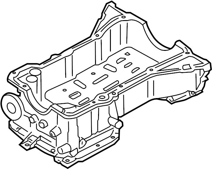 Nissan Xterra Engine Oil Pan. BLOCK, COMPONENTS, CYLINDER