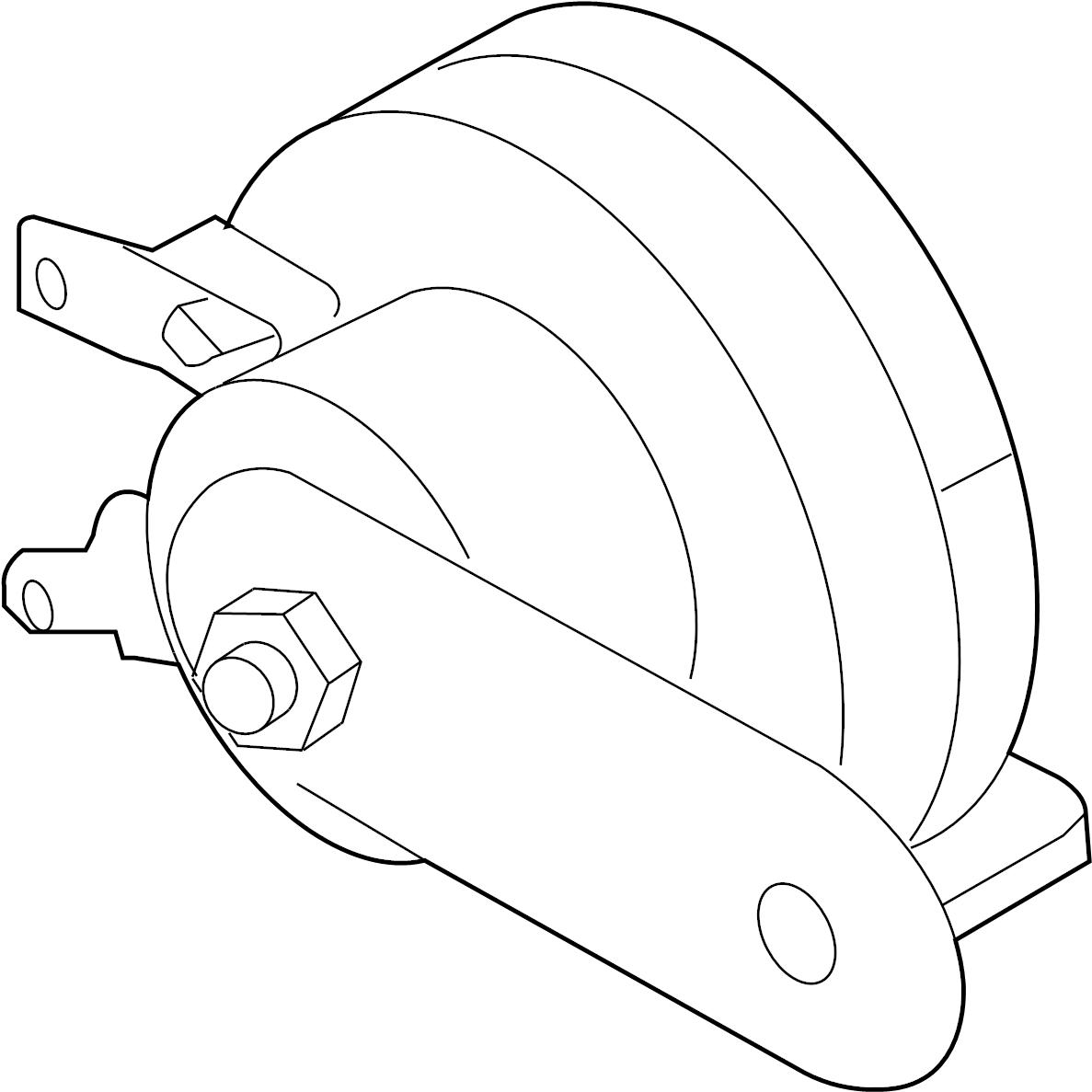 Nissan Frontier Horn Lower Engine Room Dash