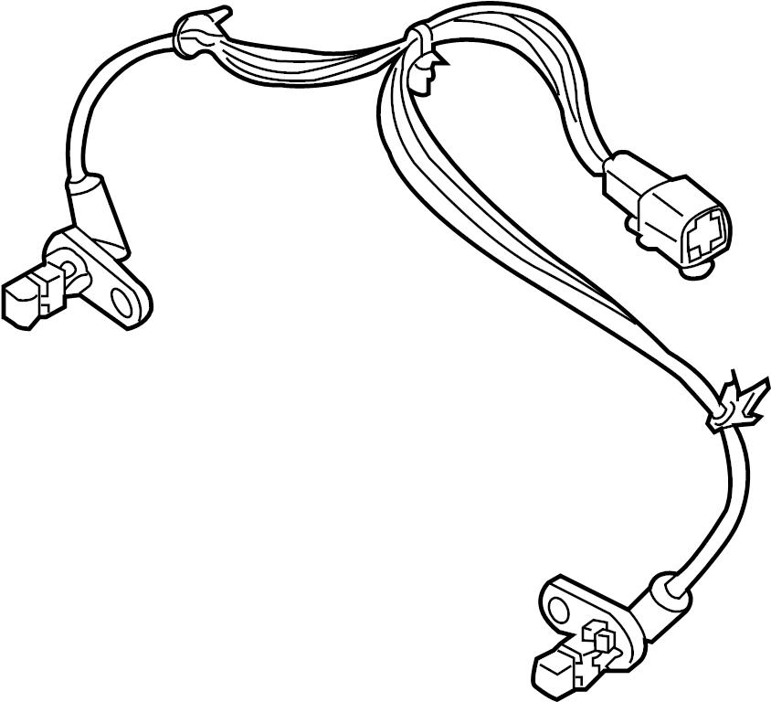Nissan Pathfinder Abs Wheel Speed Sensor (Rear). SKID