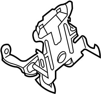 Nissan 370Z Engine Control Module Bracket. ROOM, LESS, KEY