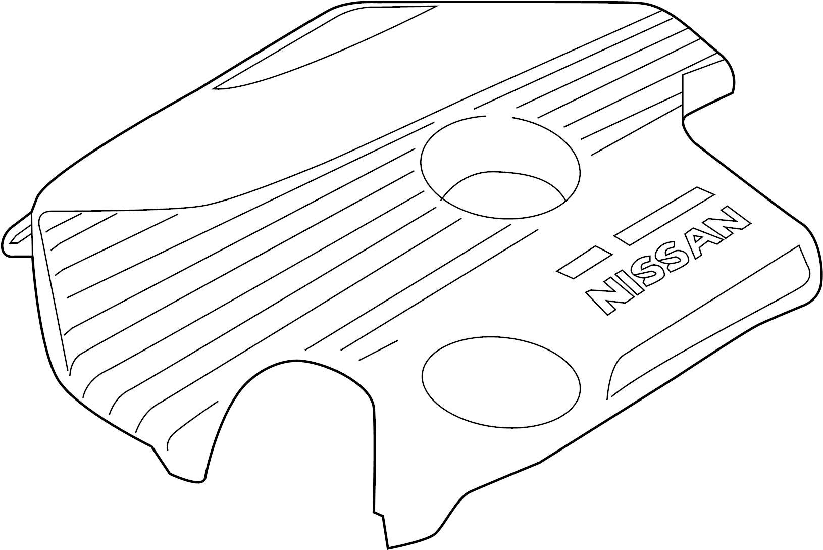 Nissan Juke Engine Cover. INTAKE, EXHAUST, MANIFOLD