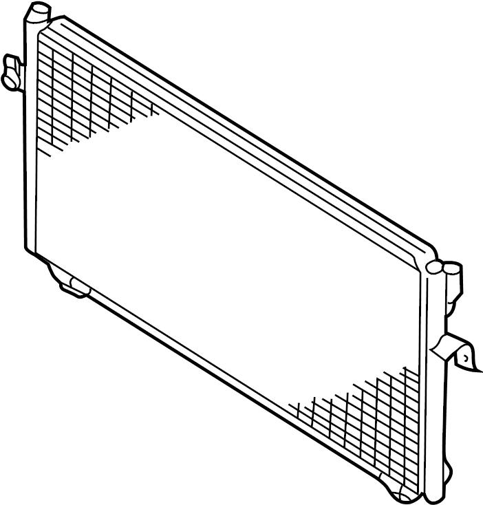 Nissan Maxima A/c condenser. Manual, conditioning, air