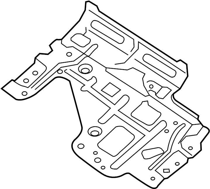 Nissan Pathfinder Bracket Connector. Bracket Cushion Frame