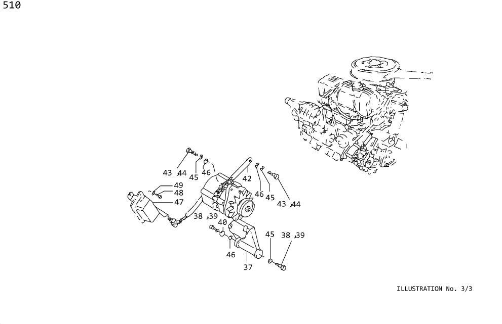 Nissan Pulsar NX Bolt Hex. SRS Product. CONTROL, VACUUM