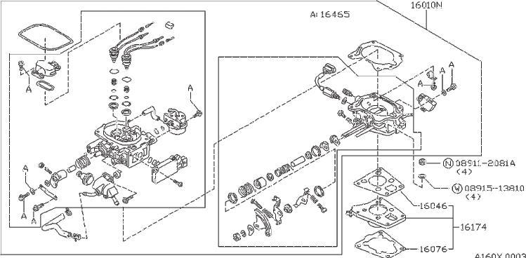 Datsun PICKUP Element Kit Thermostat. Stopper. Wax Kit