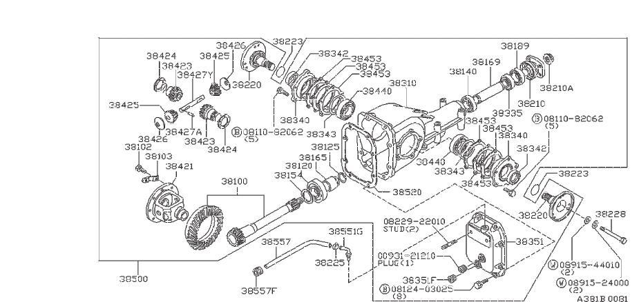Nissan 720 Manual Transmission Output Shaft Bearing