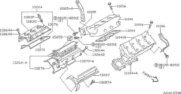 Nissan Maxima Engine Valve Cover Grommet. COMPONENT