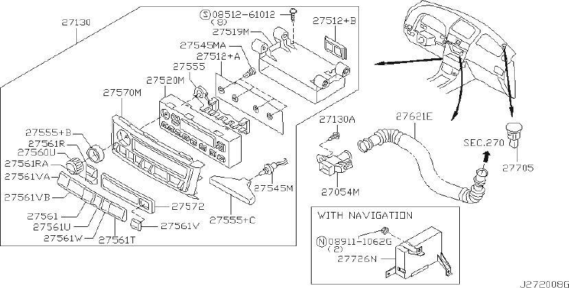 Nissan Maxima Hvac Temperature Control Panel. AIR, AUTO